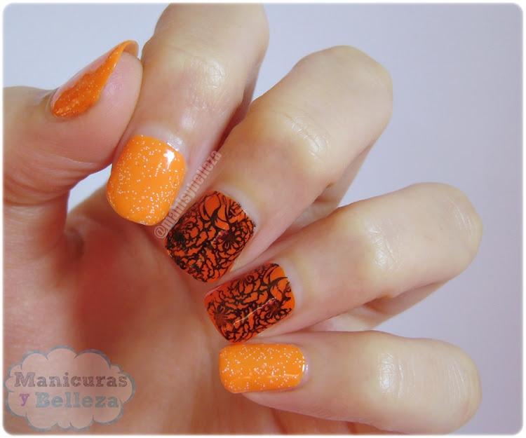 Nail art floral stamping Moyou London