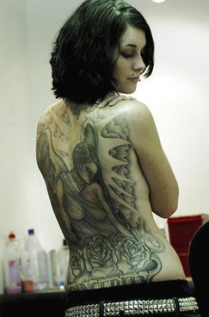 back tattoo women art sexy