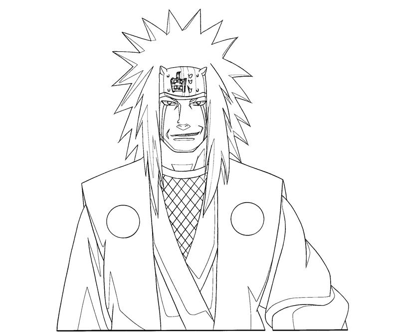 Jiraiya 13 Coloring Crafty Teenager
