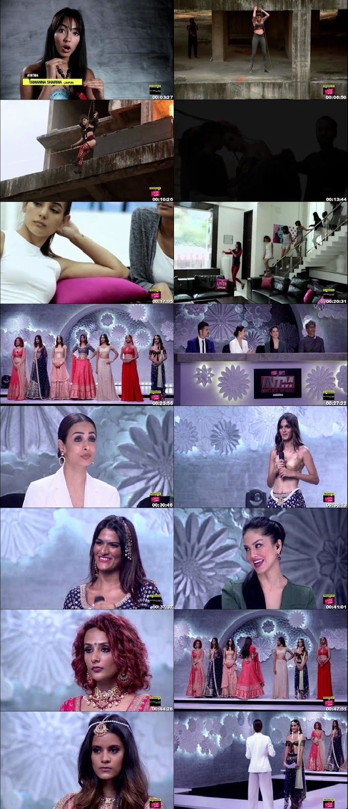 Screenshots Of Hindi Show India's Next Top Model 2018 Episode 07 300MB 720P HD
