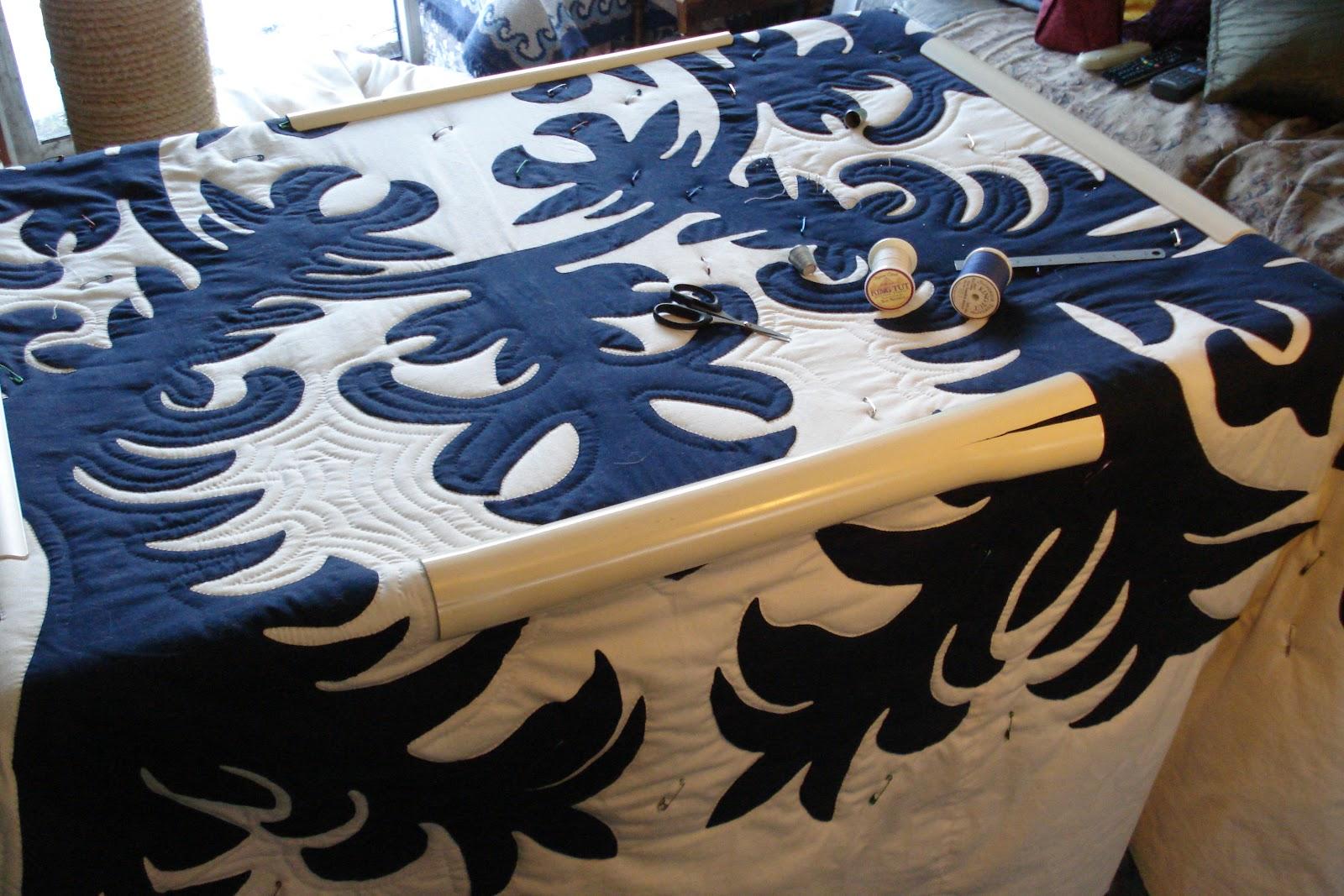 Welsh Quilts: Hawaiian Quilt in the Frame : qsnap quilt frame - Adamdwight.com