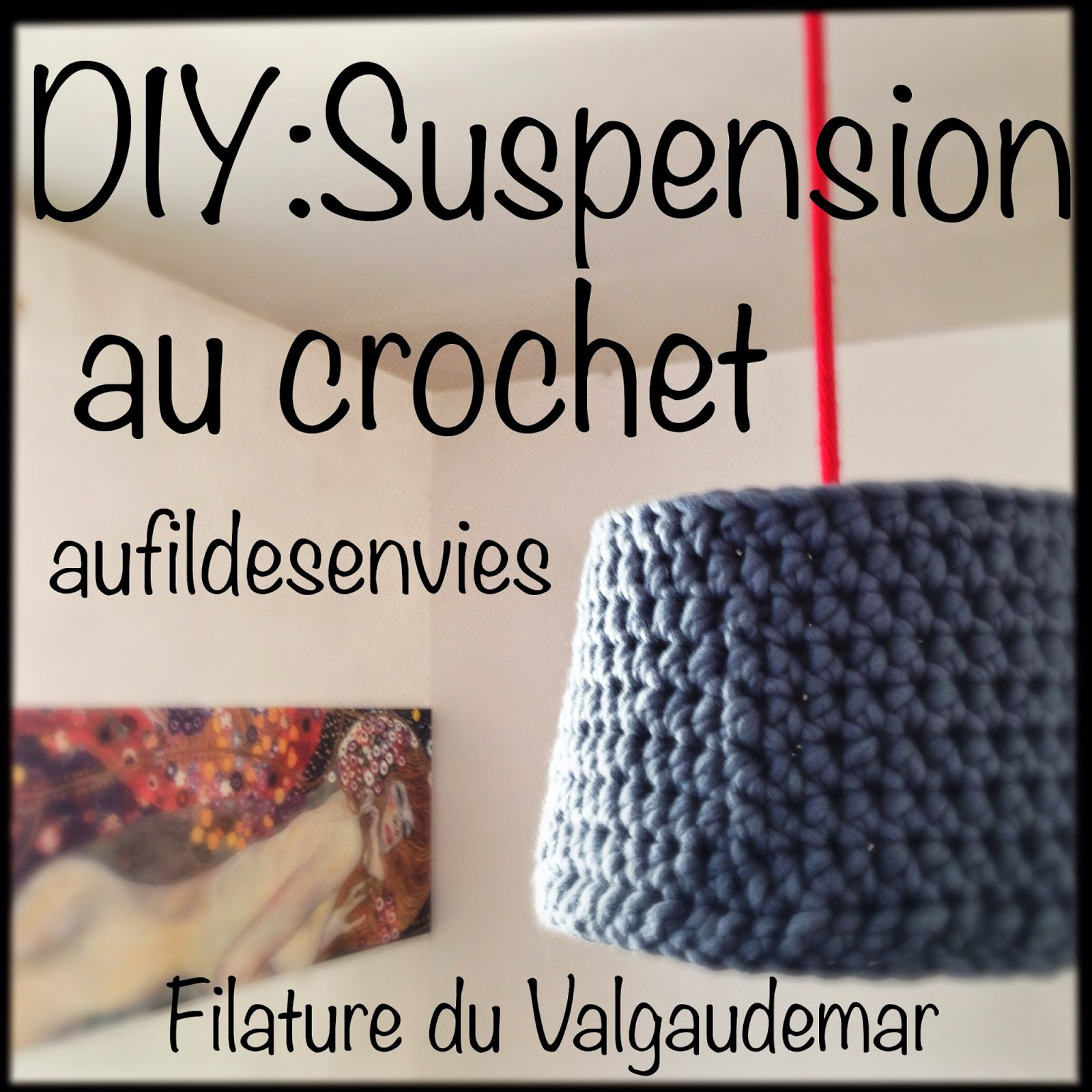DIY suspension lampe crochet