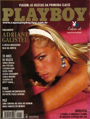Confira as fotos da Deusa Brasileira, Adriane Galisteu, capa da Playboy  especial de aniversário, agosto de 1995!