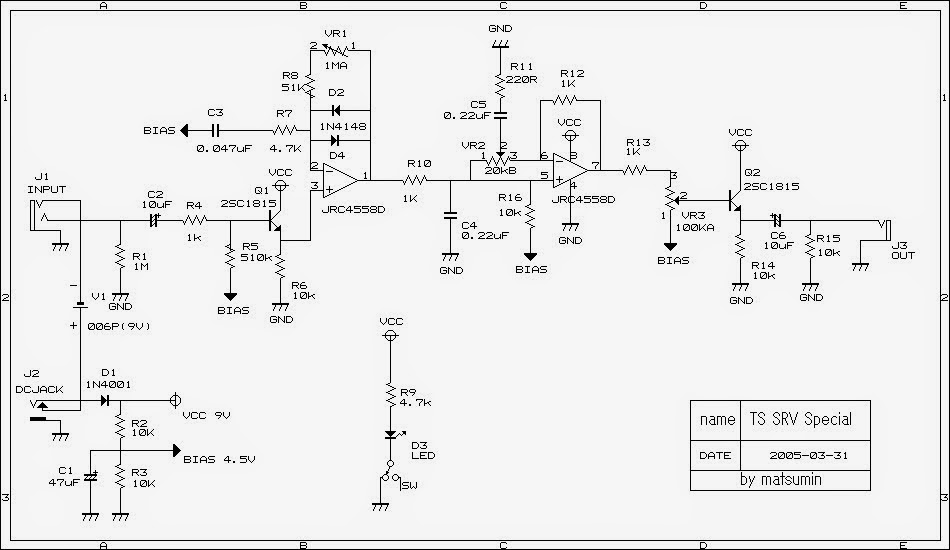 ts808 schematic html with Srv Special Tube Screamer on Ibanez Ts808 besides Cat 10009300 moreover Ts808hw moreover Srv Special Tube Screamer as well Values C1 22nf C2 1uf C3 47nf C4 51pf.