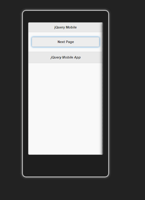 Simple First jQueryMobile App