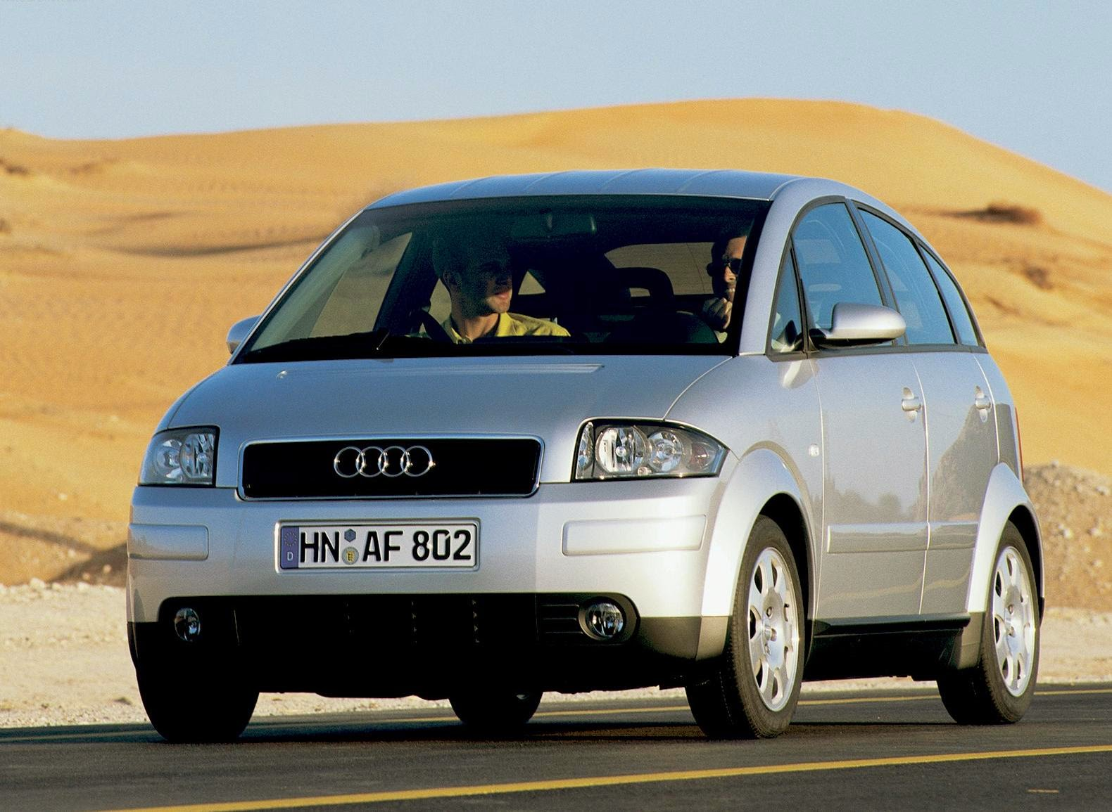Audi A2 2001 Widescreen Wallpaper