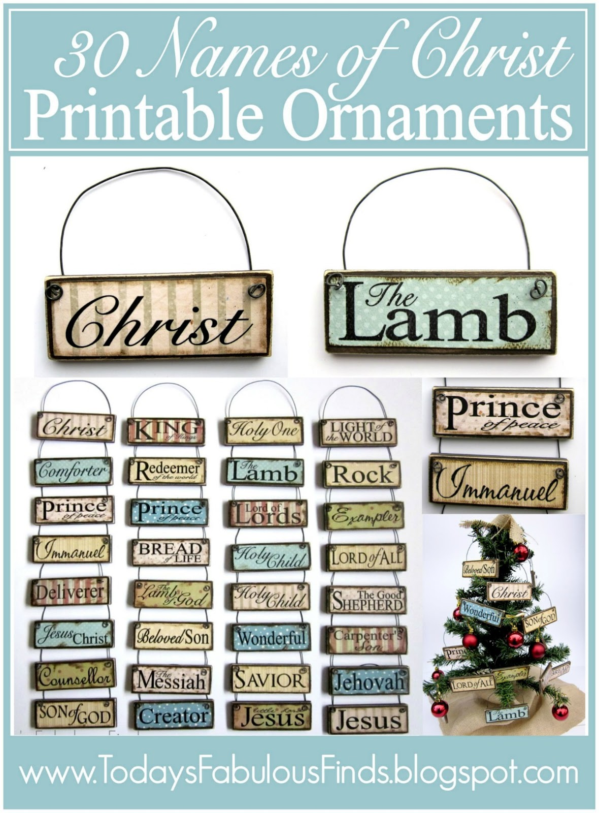 ... : DIY Printable Paint Stick Ornaments: Names and Attributes of Christ