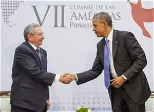 Obama and Castro meeting
