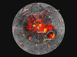 புதன் கிரகத்தில் தண்ணீர் ஐஸ் ஆக உறைந்துள்ளது: நாசா கண்டுபிடிப்பு Mercury+Water+Ice+Peranently+shadowed+polar+craters+Nov+2012