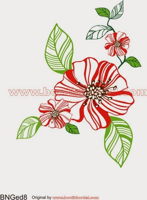 Free CDR File, motif bunga