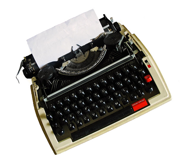 typewriter cutout