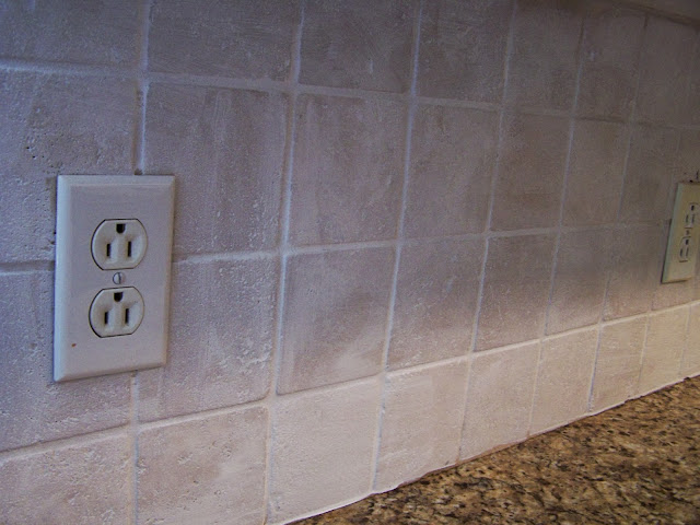 Older and wisor painting a tile backsplash and more easy for Back painted glass tile