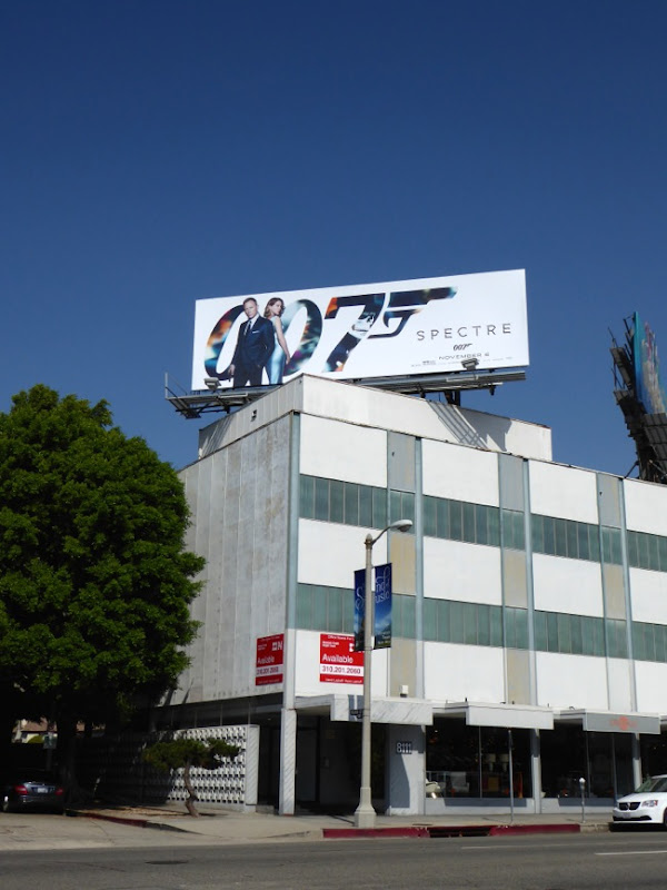 Spectre 007 movie billboard