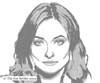Portrait of Olivia Wilde - painting complete