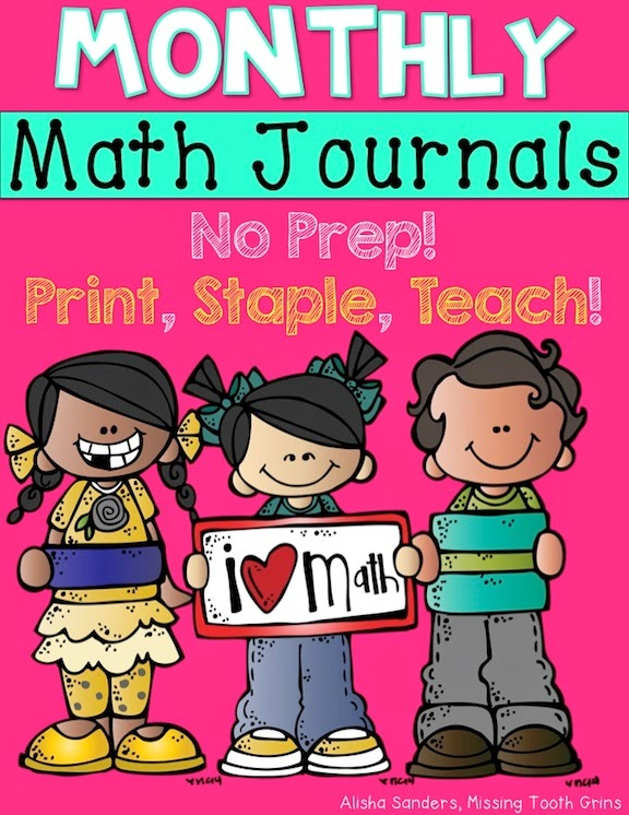 http://www.teacherspayteachers.com/Product/Monthly-Math-Journals-BUNDLE-No-Prep-1507956