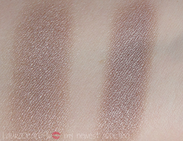 Shu Uemura ME 856 ME 850 taupe high end swatch comparison review