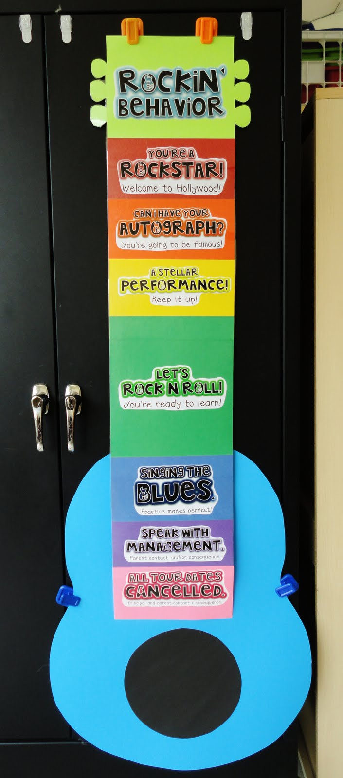 Rockstar Classroom Decor ~ Pixie chicks classroom theme thursday rock on a freebie