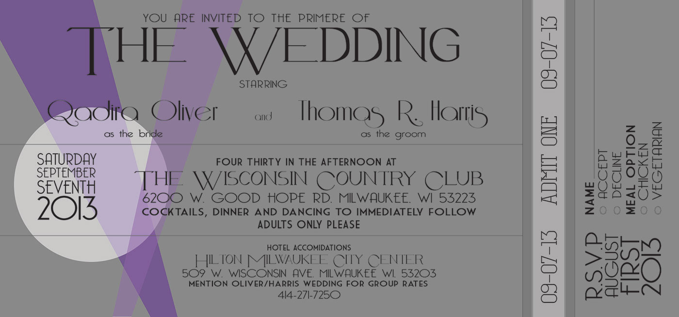 Wedding Invitations - Old Hollywood Style | Caitlin Marie Driver ...