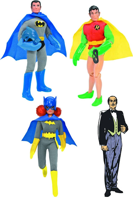 Figures Toy Company World's Greatest Heores Series 3 - Batman - Robin - Batgirl - Alfred