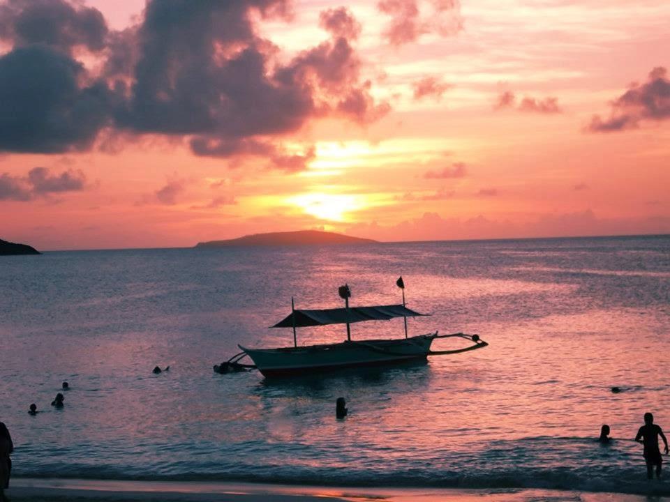 sunset at Calaguas