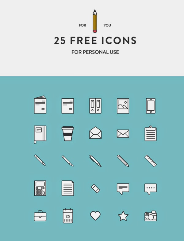 25 Free Icons by Martina Cavalieri ... daftar situs untuk membuat icon sendiri gratis demgan semua ukuran termasuk favicon