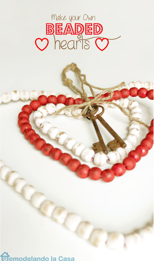 a key to my heart - beaded hearts from beaded garland