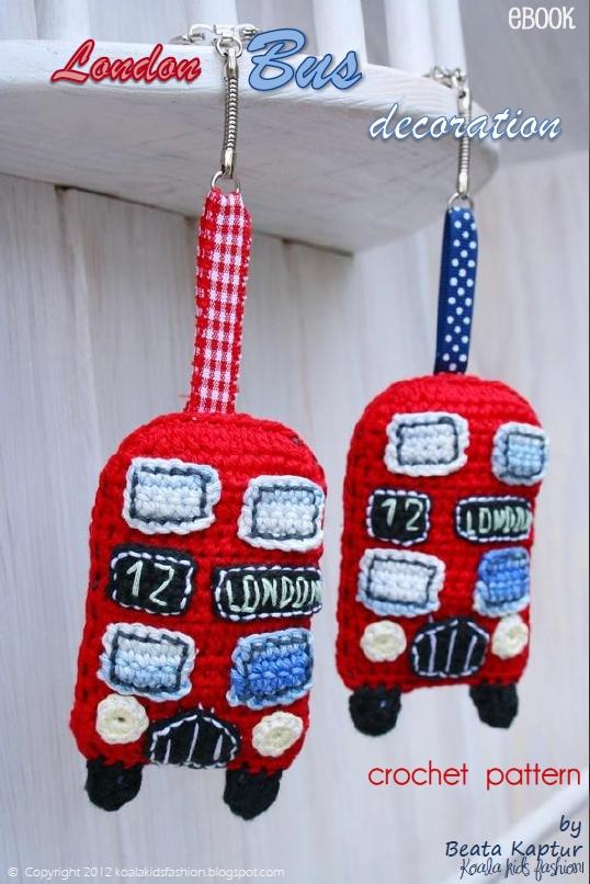 London bus hanging decoration pattern