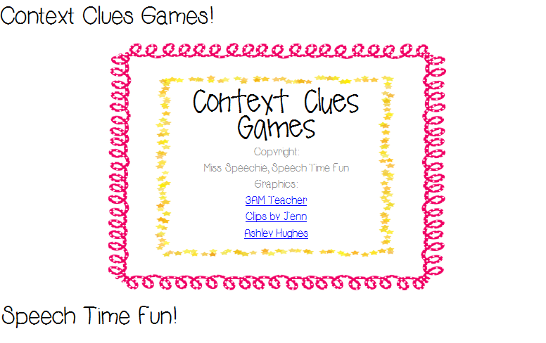 Context clues worksheets middle school 2010