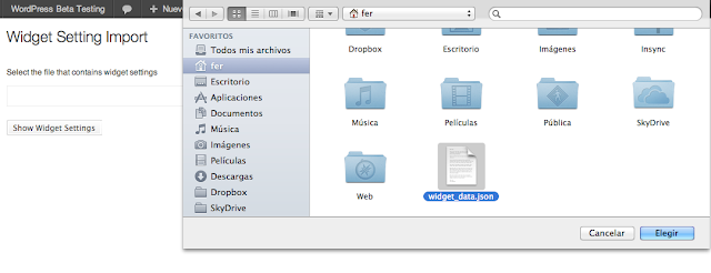 choose the previously downloaded file
