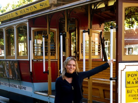 Holiday Nomad on a San Francisco Cable Car