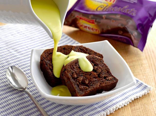 Soreen Chocolate Loaf with creamy custard