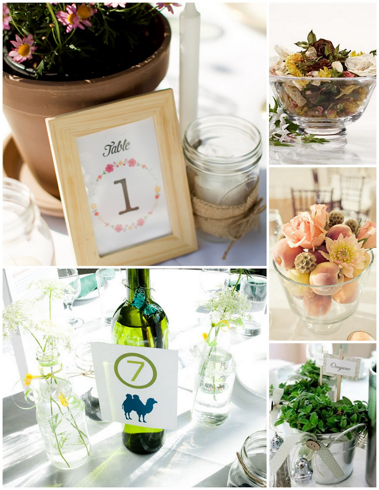 Blue Mason Jar Studio: {Bright Idea Thursday} Non-Flower Centerpieces