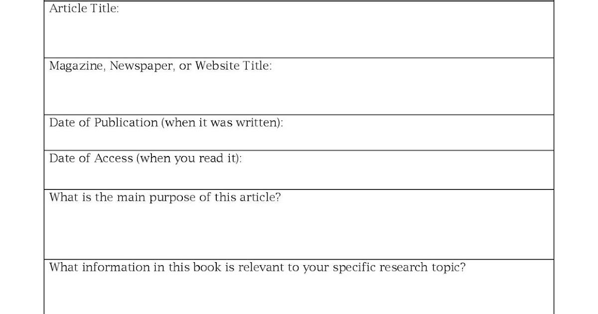 Miss Ks English 9 Annotated Bibliography Worksheet – Annotated Bibliography Worksheet