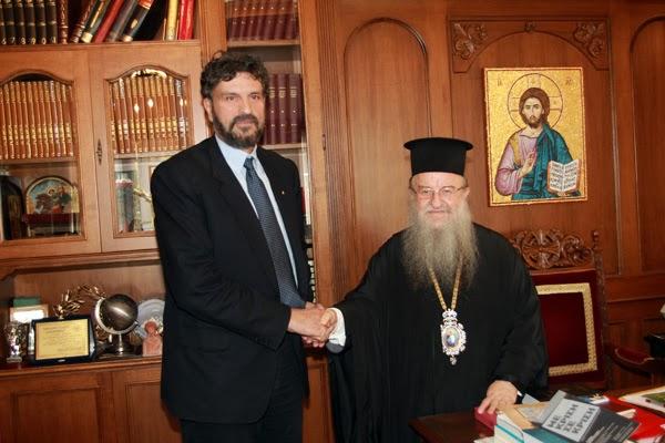 Με τον Μητροπολίτη Θεσσαλονίκης Άνθιμο