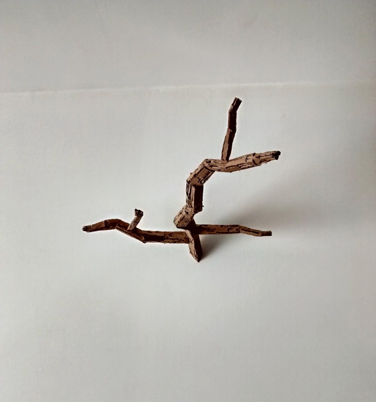fabriquer branche en carton déco diy epate-moi