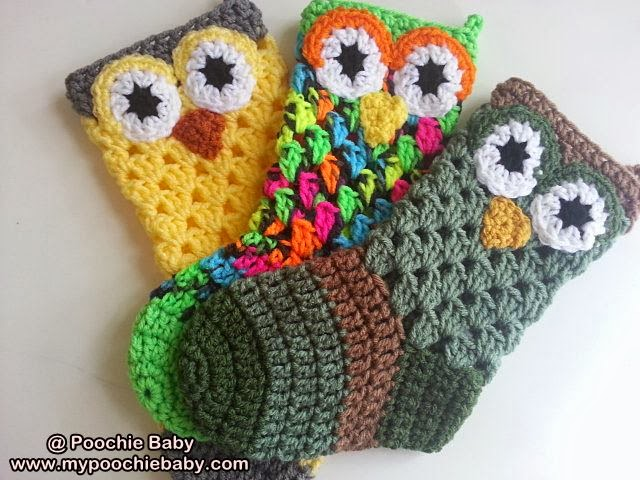 ... Baby Crochet Designs: Crochet Pattern for Owl Christmas Stocking