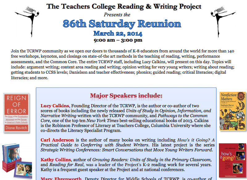 teachers college reading writing project