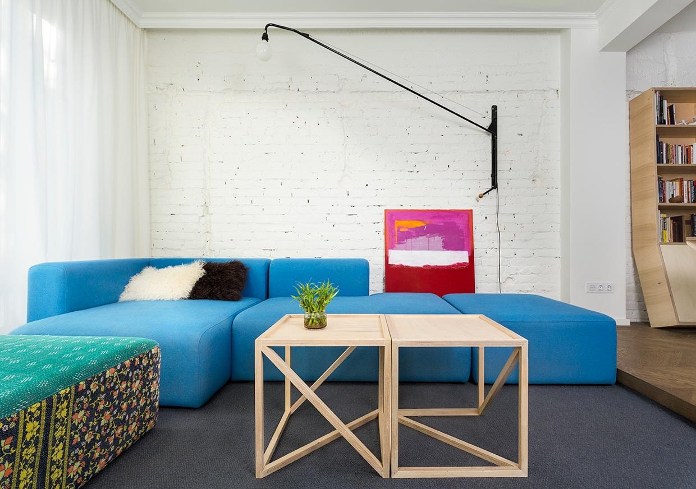 Appartamento contemporaneo con arredi su misura a sofia by for Arredamento stanza yoga