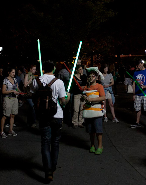 Largest Lightsaber Fight in the New York Park
