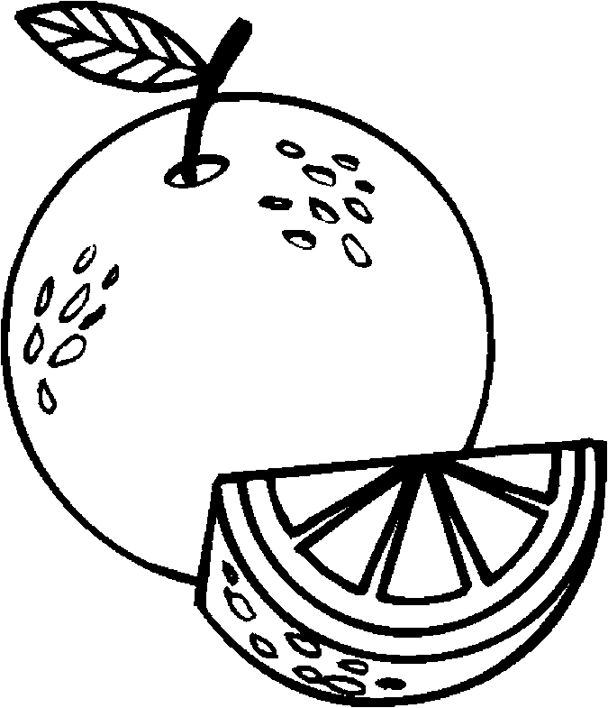 Colorful And Black White Oranges For Coloring Book Further Worksheet ...