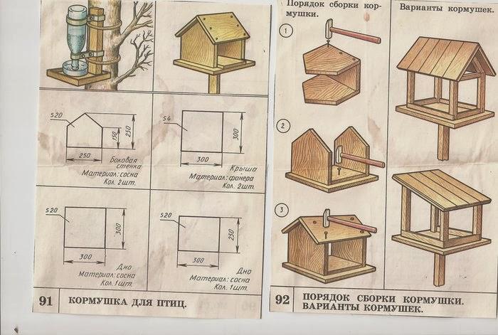 Как построить кормушку для птиц своими руками