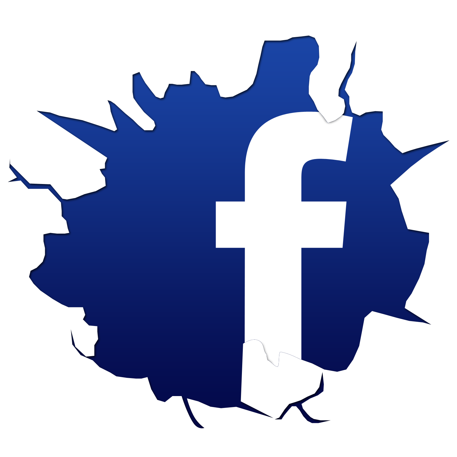 Cracked Facebook Logo
