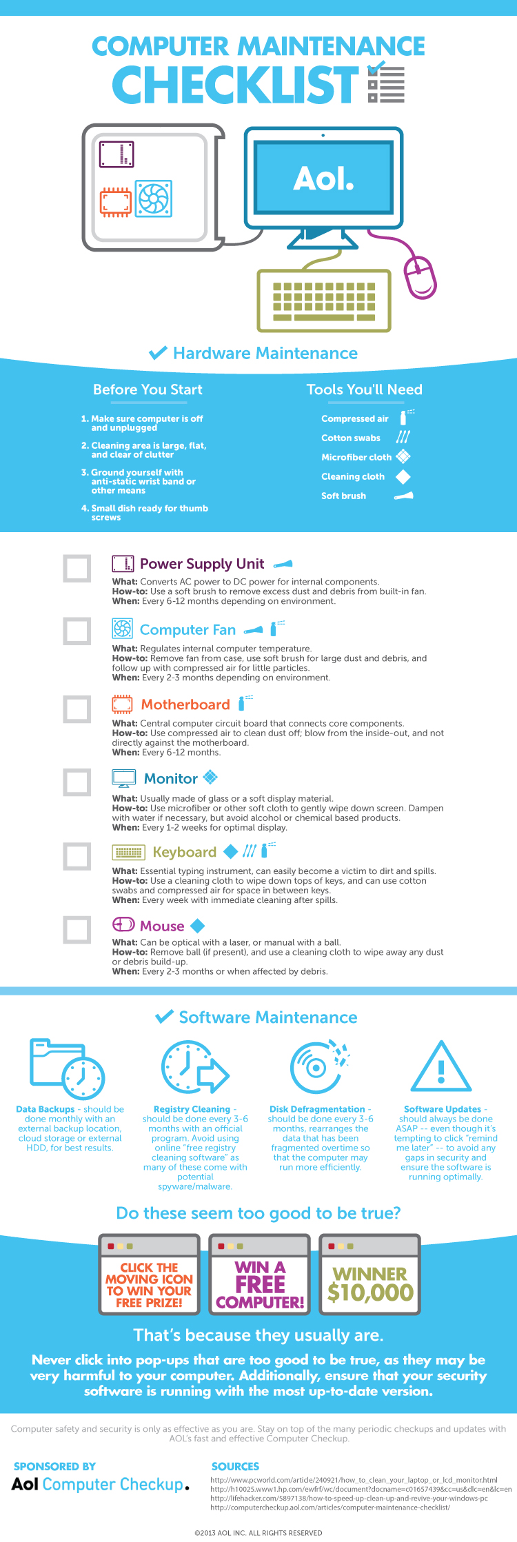 Your Desktop Computer Maintenance Checklist #Infographic