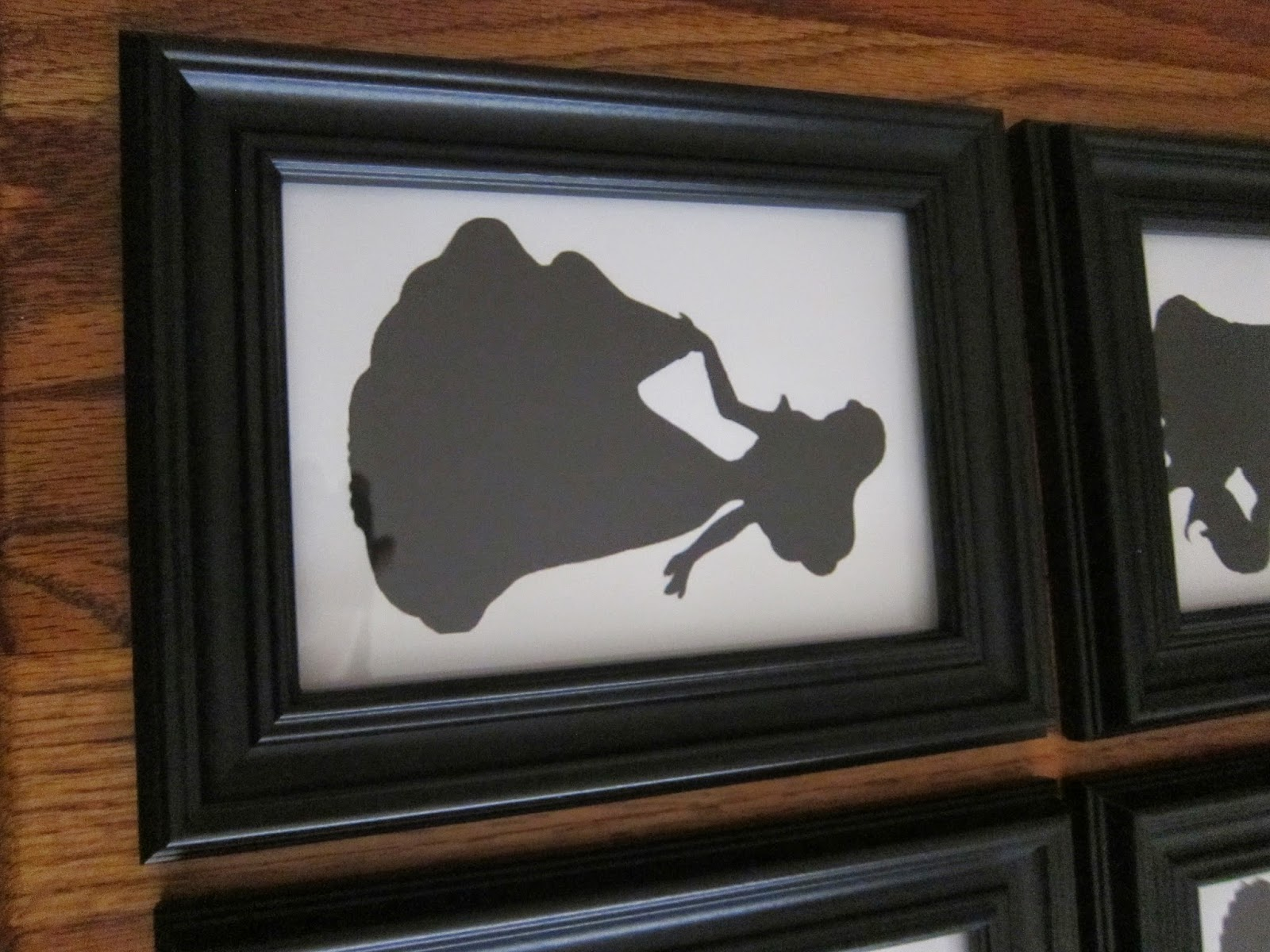 A writers wife brooklyns nursery project 1 princess silhouettes we bought these 5x7 frames at walmart for 4 each here is the final product i think they turned out great jeuxipadfo Gallery