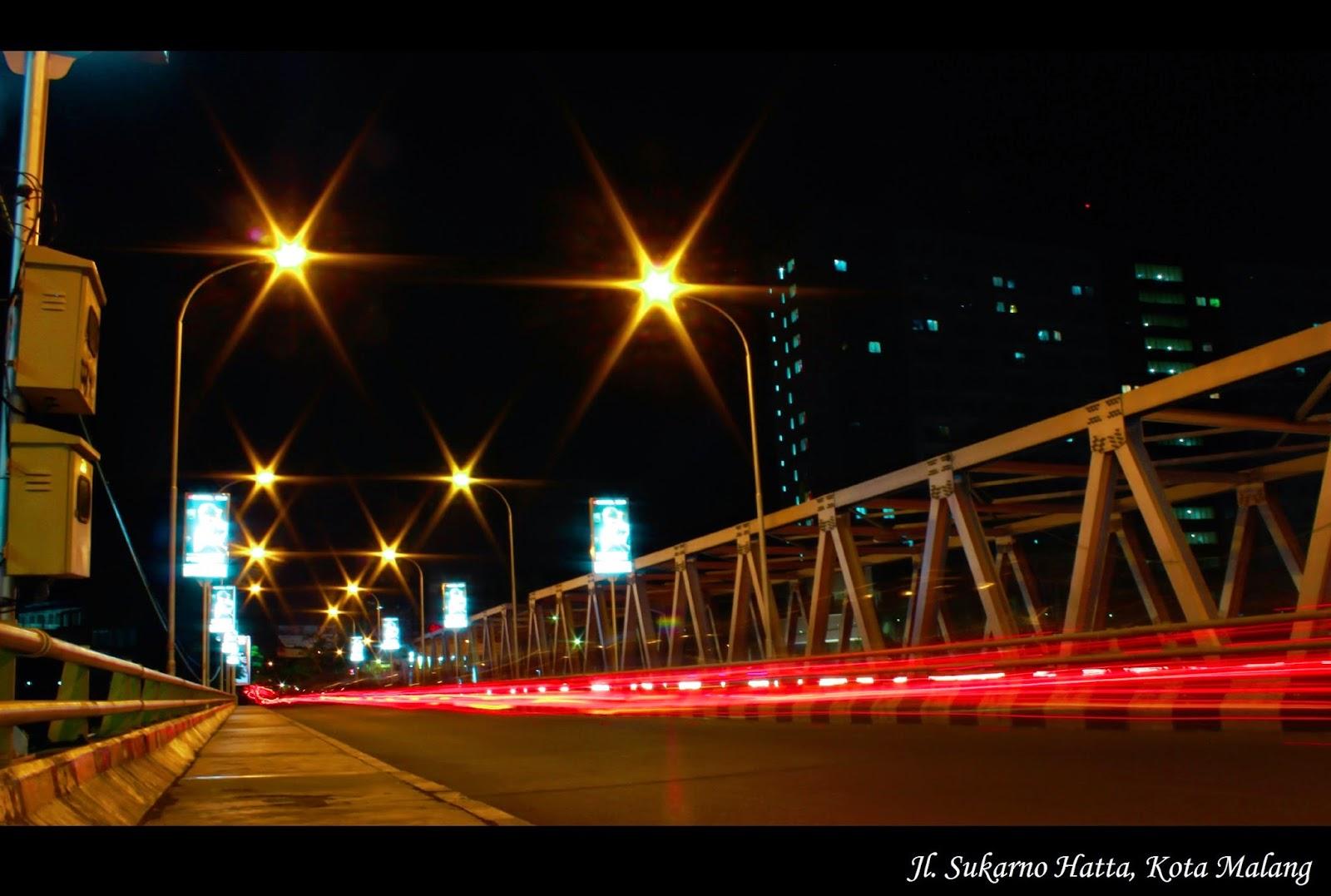 Foto Malam Night Shoot Jembatan Sukarno Hatta Kota Malang