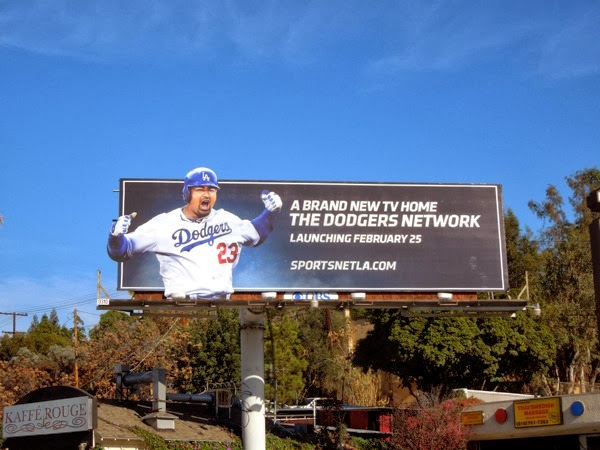 Dodgers Network launch billboard
