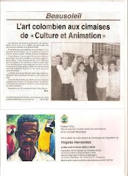 """Virginia Hernandez en Exposicion individual """"LA COLOMBIE"""" Sala de la Cultura, Beausoleil"""