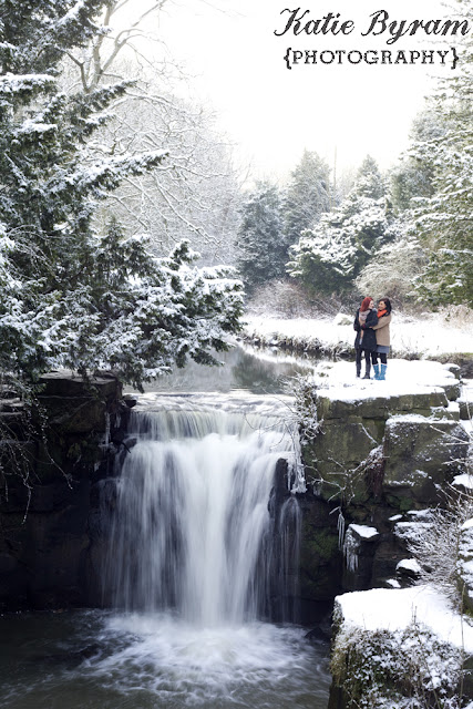 jesmond dene, snowy photoshoot, couple in the snow, same-sex couples, katie byram photography