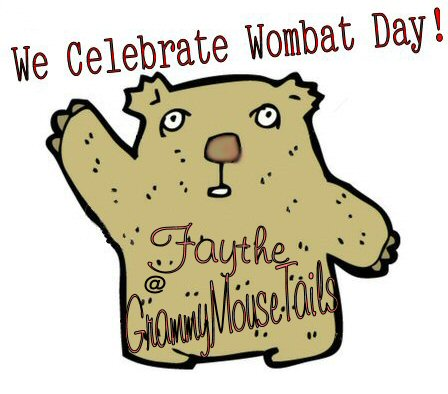 wombat cartoon image - celebrate wombat day