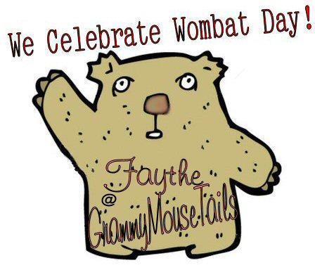 wombat cartoon image - celebrate wombat day